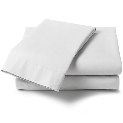 1000 Thread Count Pure Cotton Sateen White Flat Sheet