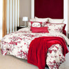 Snow Cherry Blossoms Cotton Sateen Duvet Cover Set