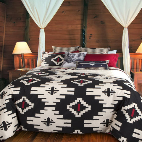 Navajo Saddle Inspired Cotton Sateen Duvet Cover Set