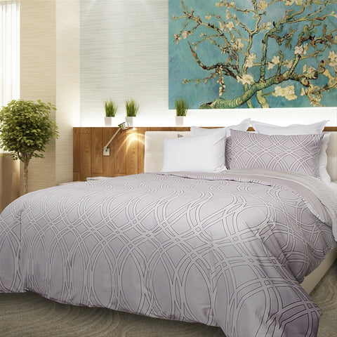 Geometric Lennox 300TC Cotton Sateen Duvet Cover Set