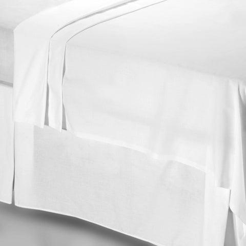 800 Thread Count Snow White Pure Cotton Sateen Flat Sheet