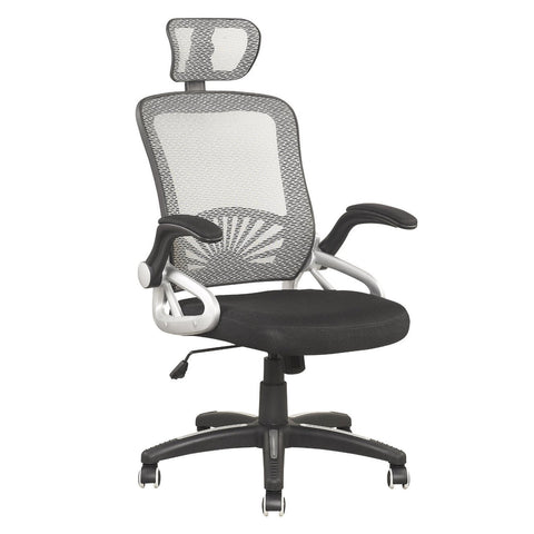 Mesh High Back Extra Padded Office Swivel Chair with Head Support & Adjustable Arms MO21