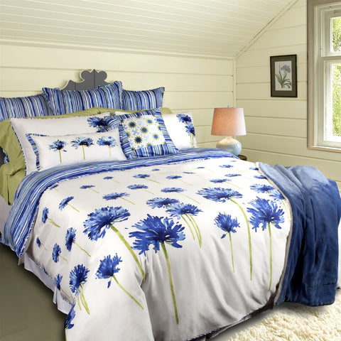 Agapanthus Blooms Tencel Cotton Duvet Cover Set
