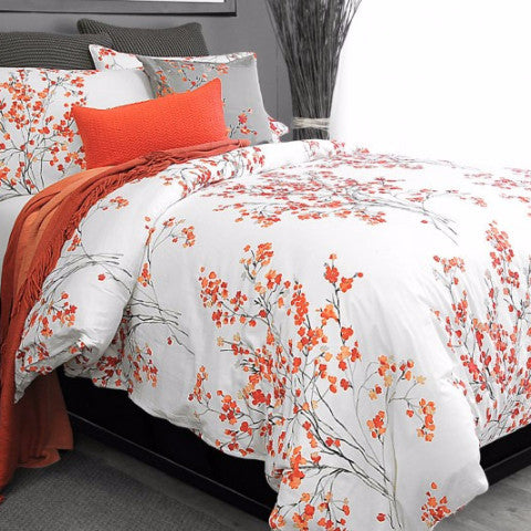 Brielle Blossom Cotton Sateen Duvet Cover Set
