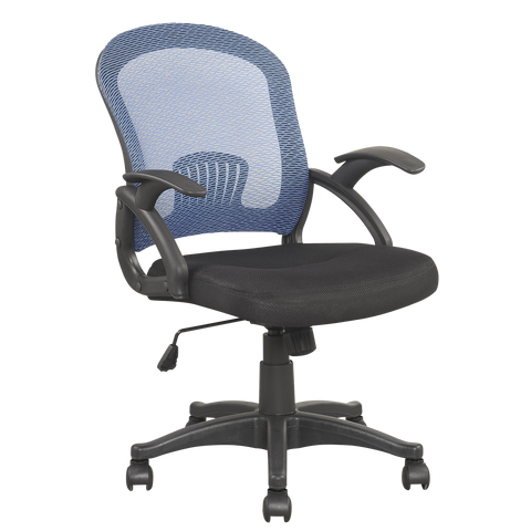 Darwin Mesh Style Low Back Extra Padded Black Seat Office Chair in 2 Colours