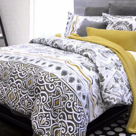 Glaser Abstract Printed Cotton Sateen Duvet Cover Set