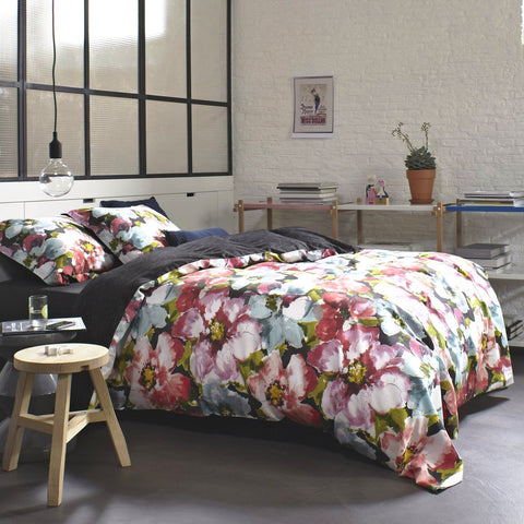 Giselle Floral Cotton Sateen Duvet Cover Set