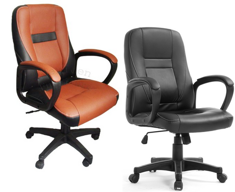 MO19 Modern Design PU Leather Swivel Office Chair in Two Colours