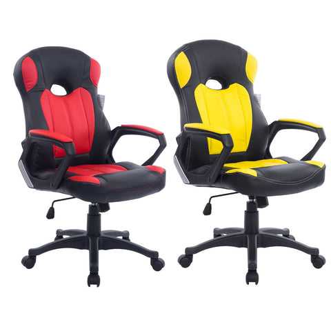 Homerton Racing Gaming Style PU Leather Swivel Office Chair in 2 Colours