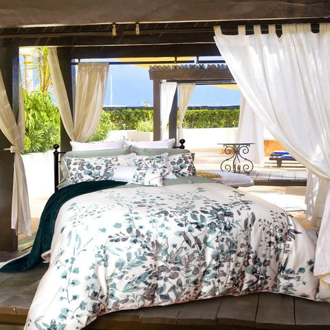 IBIZA Watercolour Printed Tencel Cotton Blend Duvet Cover Set