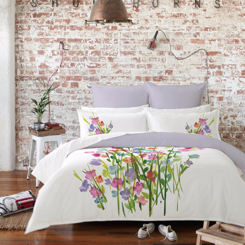Rosemary Luxury 250 Thread Count 100% Cotton Duvet Cover Bed Set