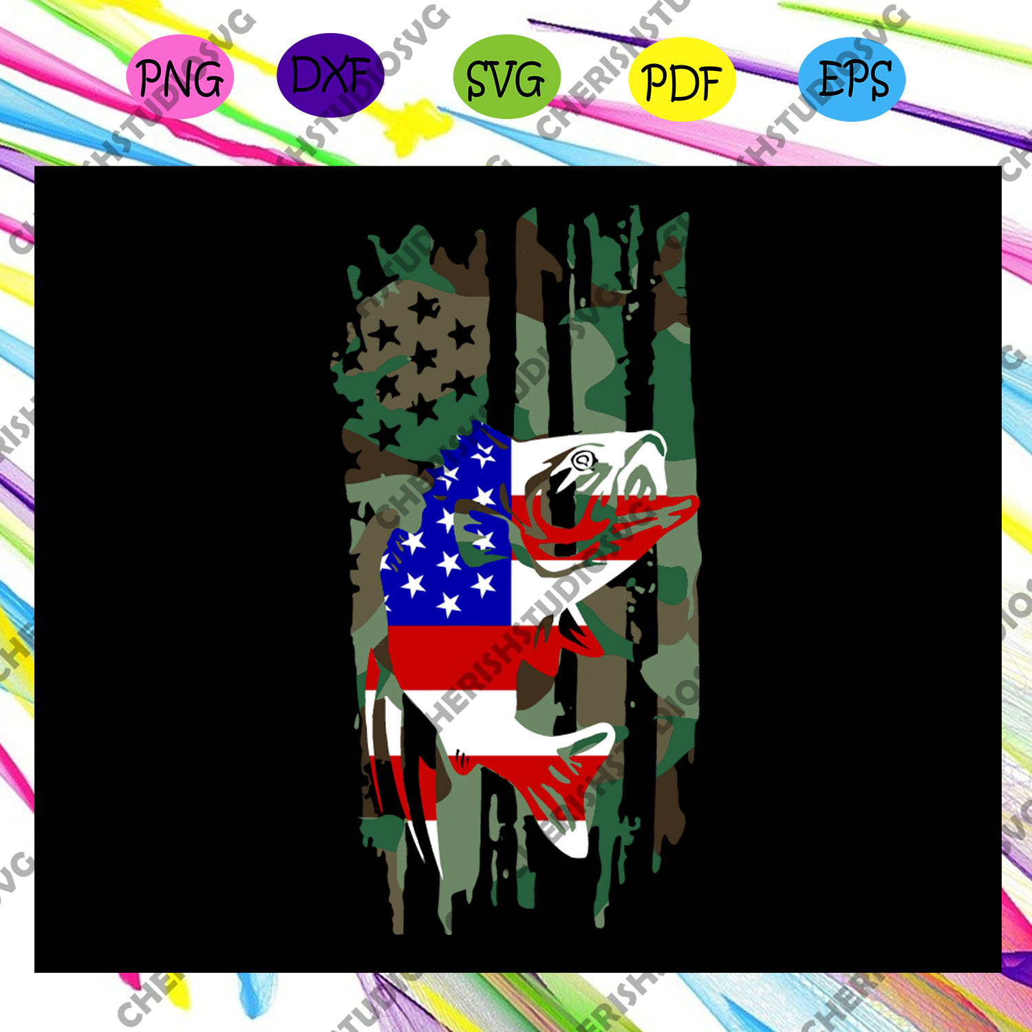 Download Fishing American Flag 4th Of July Svg American Flag Svg Fourth Of Ju Cherishsvgstudio