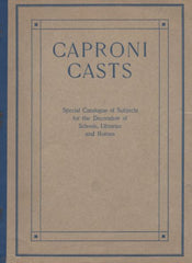 scan of Caproni catalog cover, a brown color with blue borders and text