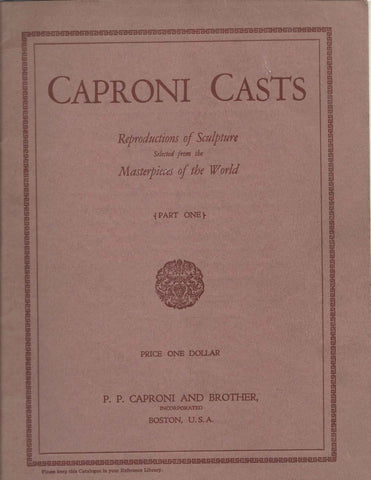 Scan of red-brown 1928 P.P. Caproni and Brother catalog cover