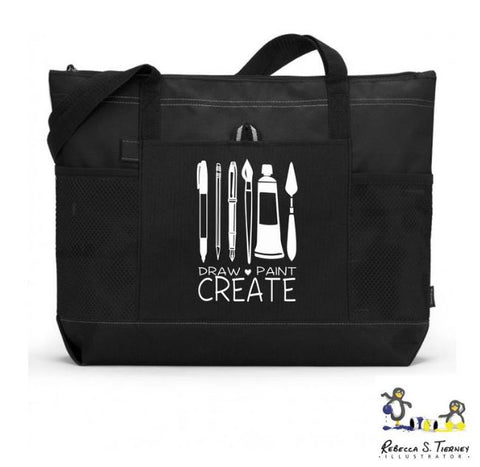 Draw, Paint, Create Artist Tote Bag