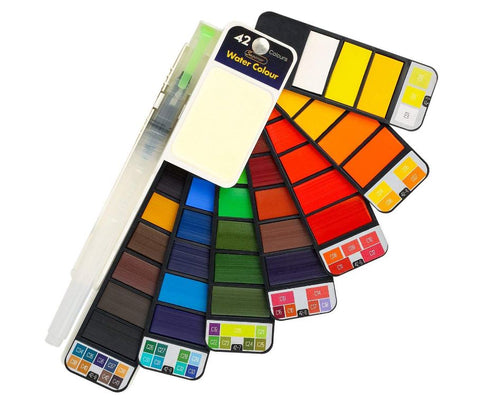 MISULOVE 42 Assorted Watercolors Field Sketch Set