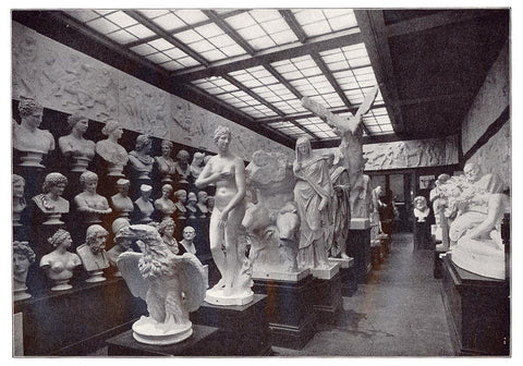 The Second Room of Antique Sculpture at P.P. Caproni & Bro. gallery in the early 1900s