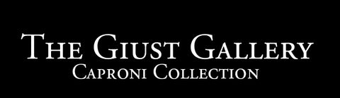image of Giust Gallery/Caproni Collection logo with white text on a black background