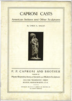 "scan of Caproni catalog title page with a photograph of Dallin's ""Standing Elk"""