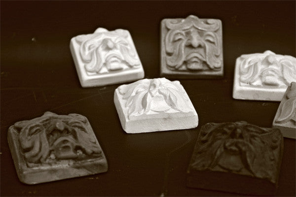 Grotesque Tiles Set of Three - Item #636