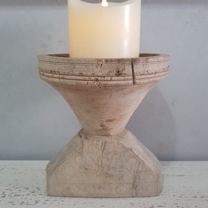 Carved Indian Seeder Candle Holder - SC15