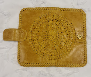 Leather Mandala Boho Wallet