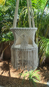 Children's Round Hanging Macrame Swing Chairs