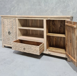 Two Door Mandala Sideboard With Shelves & Drawer