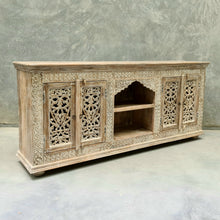 Load image into Gallery viewer, Four Door Entertainment Sideboard With Mehrab Display Shelf