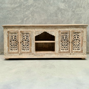 Four Door Entertainment Sideboard With Mehrab Display Shelf