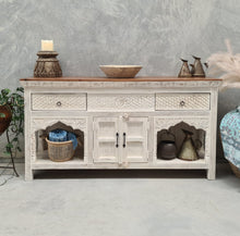 Load image into Gallery viewer, Indian Two Drawer Console Vanity With Small Cupboard