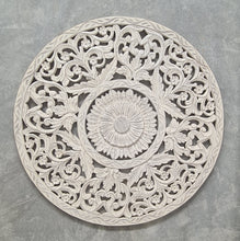 Load image into Gallery viewer, Hand Carved Mandala Round Wall Panel