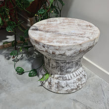 Load image into Gallery viewer, Vintage Indian Ukhali Stool #1