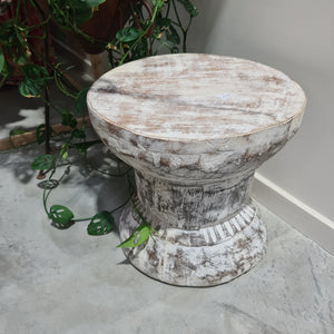 Vintage Indian Ukhali Stool #1