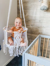 Load image into Gallery viewer, Children's Round Hanging Macrame Swing Chairs