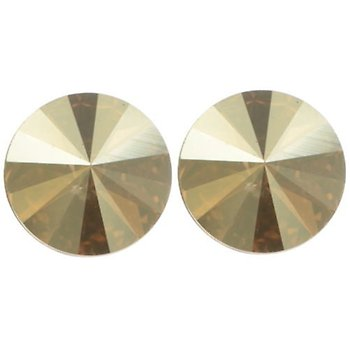 Citrine Bronze Rivoli Stud Earrings