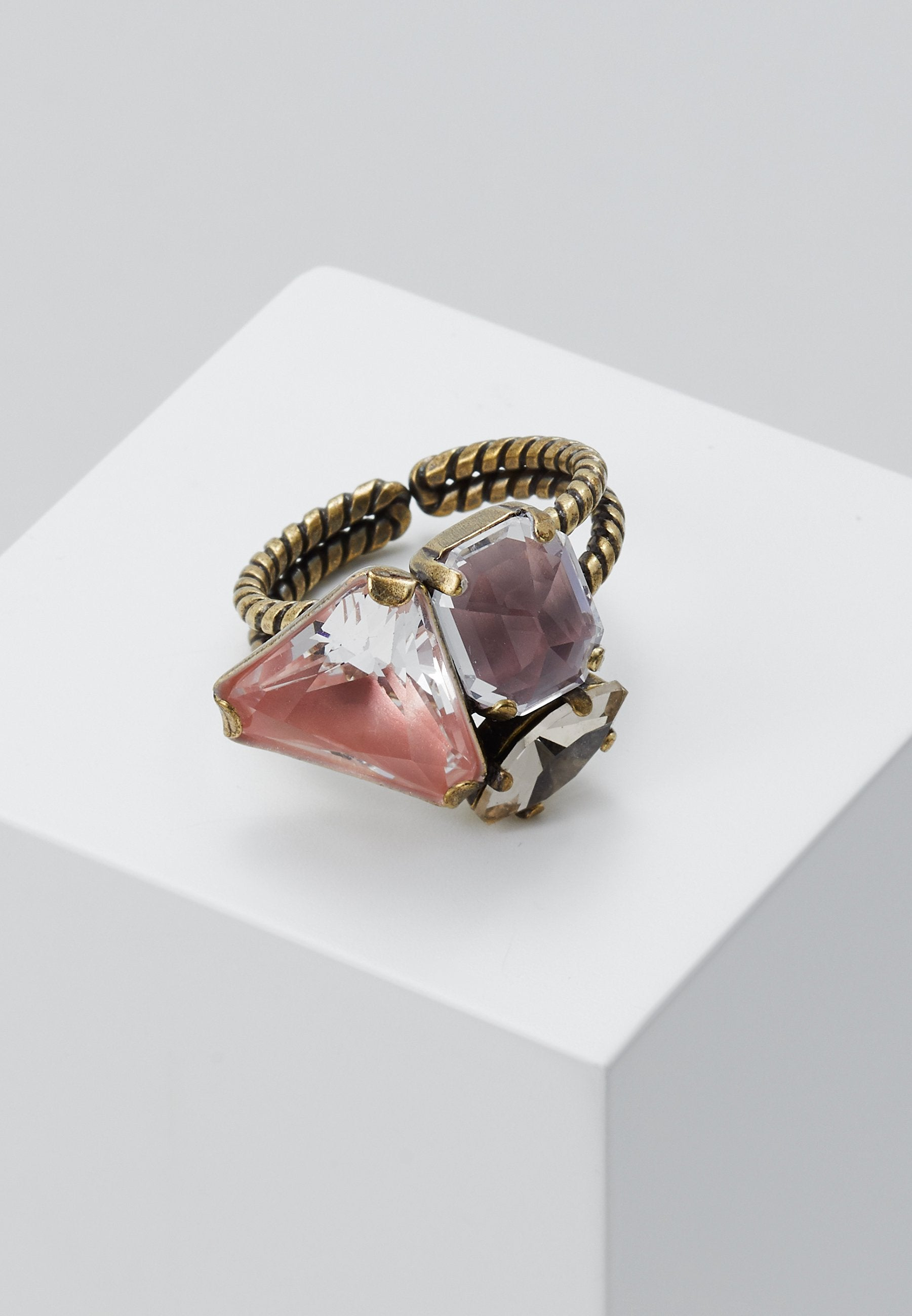 Mix the Rocks Pink Stone Ring