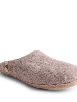 Grey Felt Slippers