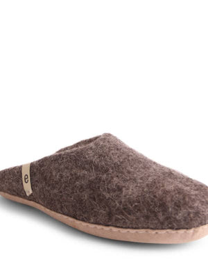 Brown Felt Slippers
