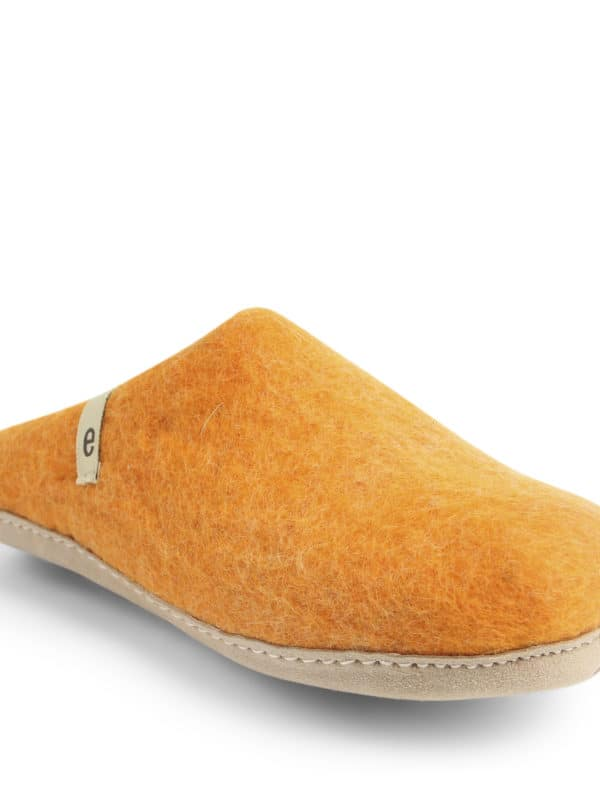 Orange Felt Slippers