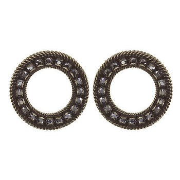 Konplott Rock N Glam Stud Earrings Grey