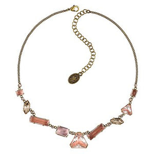 Blush Pink Mix The Rocks Crystal Stone Necklace