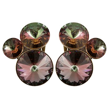 Konplott Rivoli Stud Earrings Colorado Topaz
