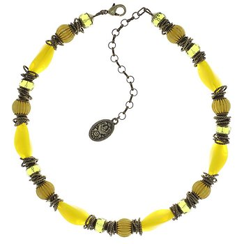 Yellow Tropical Candy Necklace