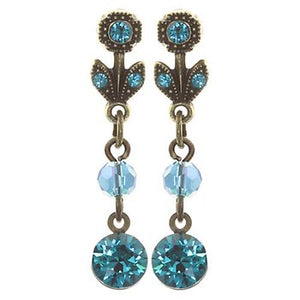Konplott Daily Desire Blue Dangling Earrings