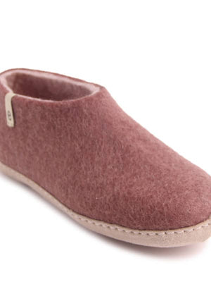 Dusty Rose Felt Slipper Shoe