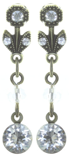 Konplott Daily Desires Earrings Dangling studs, Swarovski Crystal