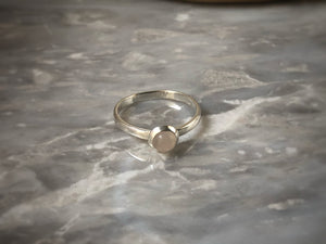 Small Rose Quartz Sterling Silver Ring Tiger Lily London