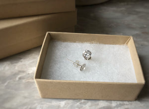 Silver Cubic Zirconia 7mm Stud Earrings