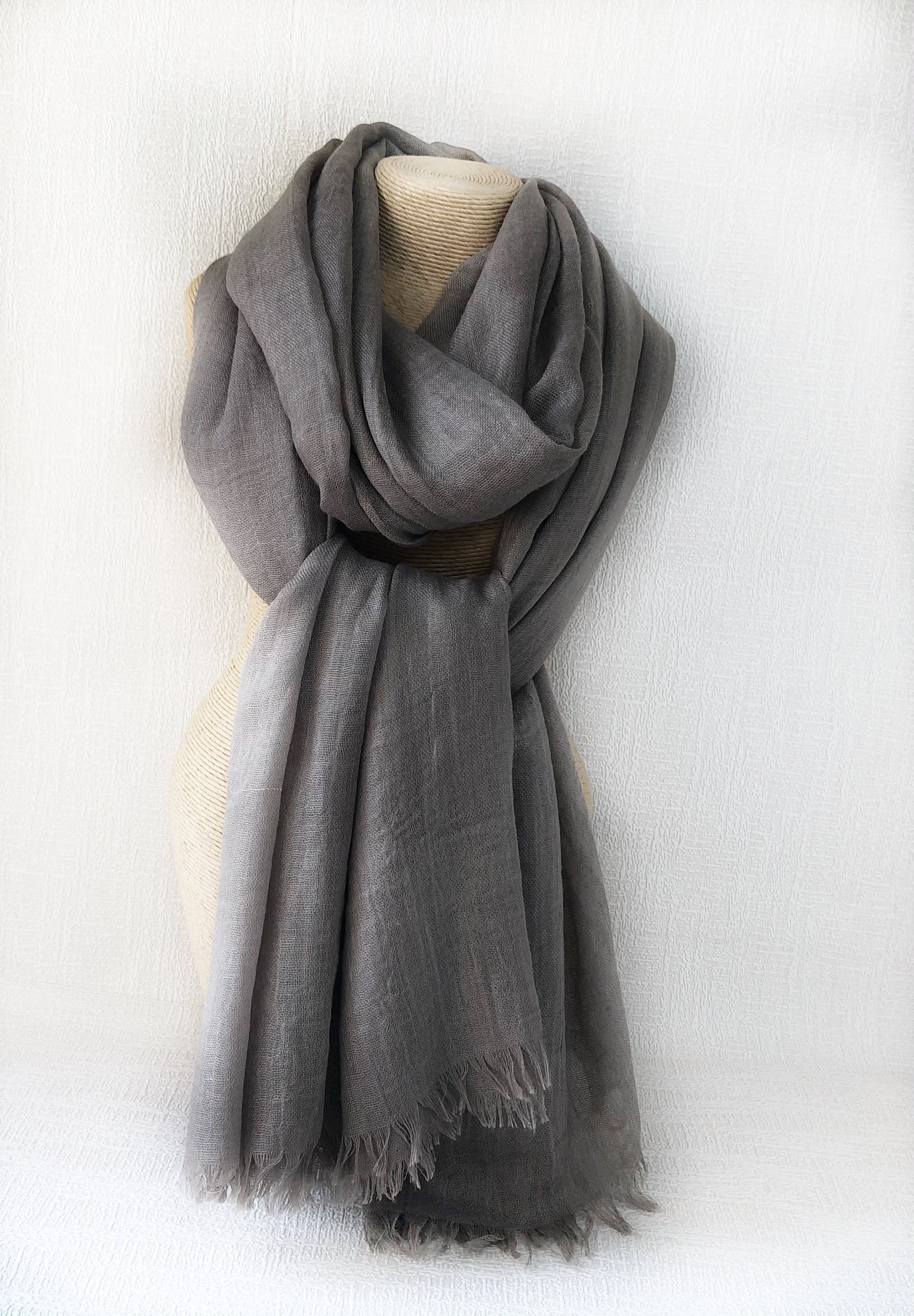 Mocca Wool Cotton Scarf